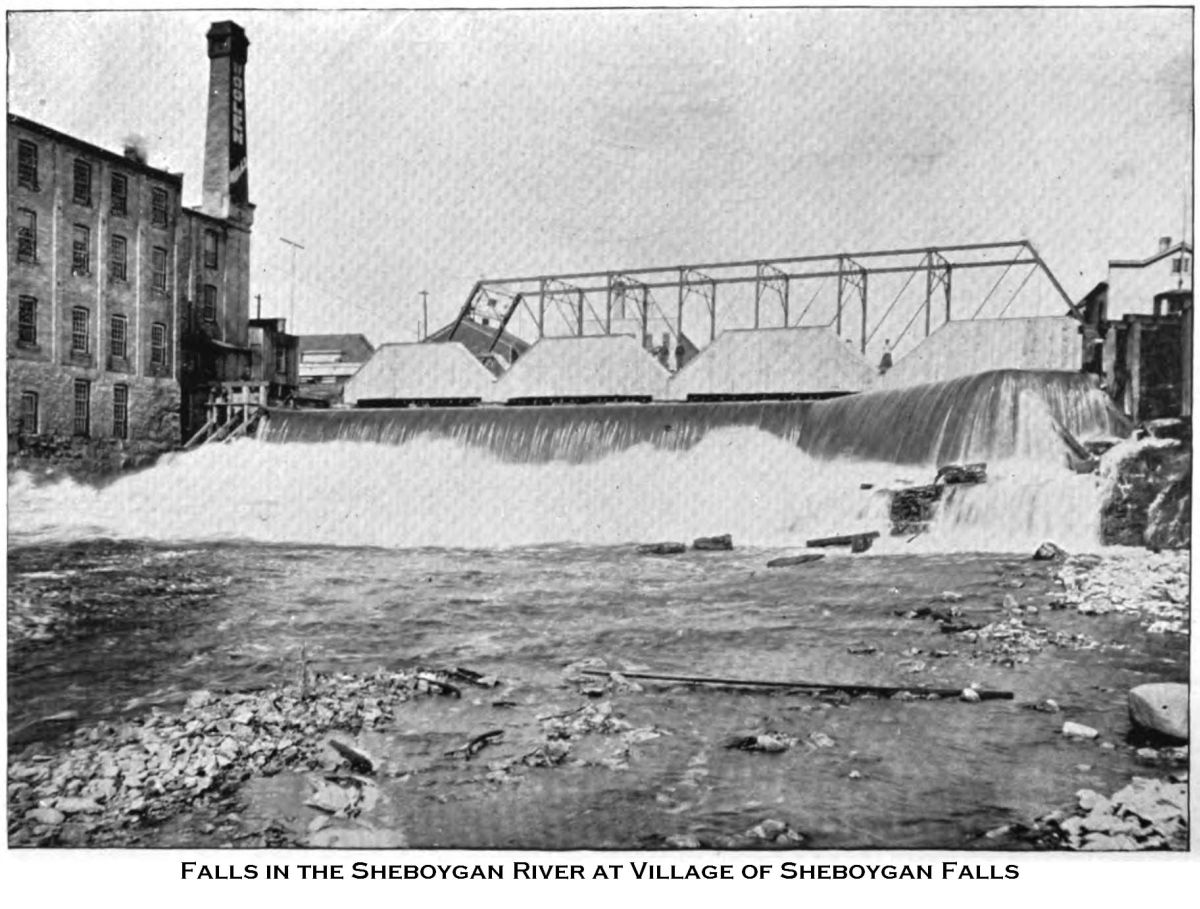 Falls in the Sheboygan River at Village of Sheboygan Falls