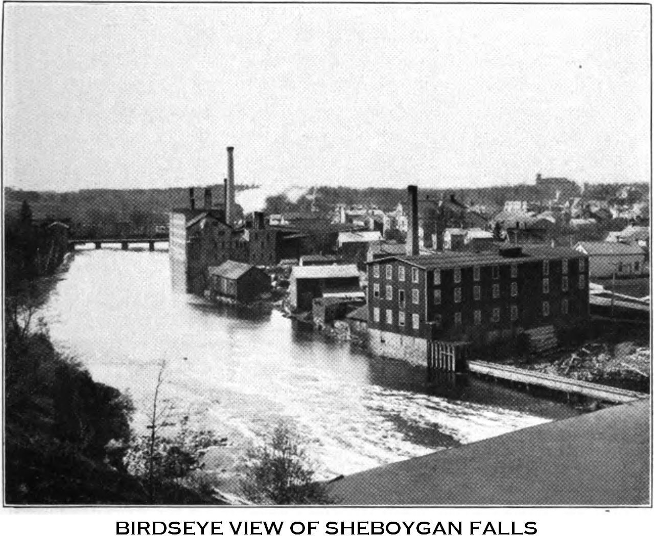 Birdseye View of Sheboygan Falls